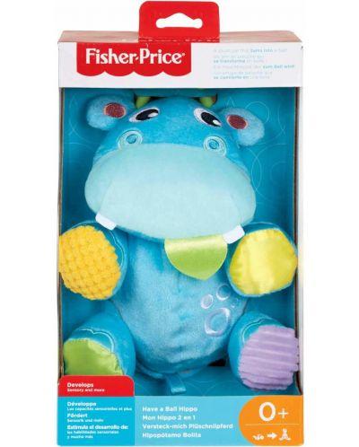 Jucarie pentru bebelusi Fisher Price - Hipopotam, 2 in 1 - 5