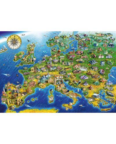 Puzzle Bluebird de 1000 piese -European Landmarks, Adrian Chesterman - 1