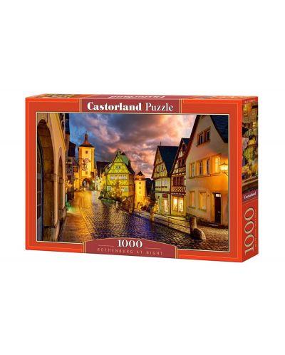 Puzzle Castorland de 1000 piese - Noaptea in Rothenburg - 1