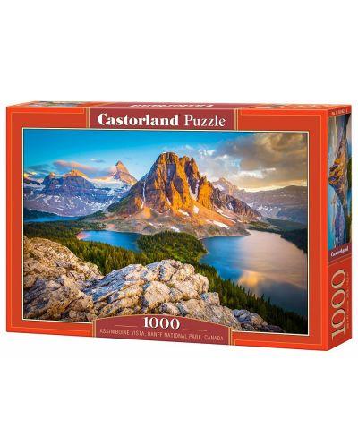 Puzzle Castorland de 1000 piese - Vedere in Assiniboine in Parcul natonal Banaf, Canada - 1