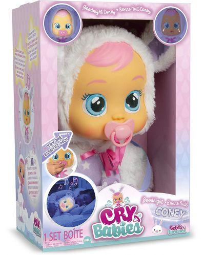 Papusa bebe plangacios IMC Toys Cry Babies, cu lacrimi stralucitoare  - Noapte buna, Coney - 4