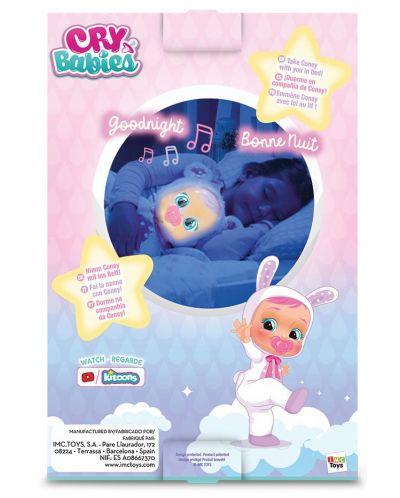 Papusa bebe plangacios IMC Toys Cry Babies, cu lacrimi stralucitoare  - Noapte buna, Coney - 5