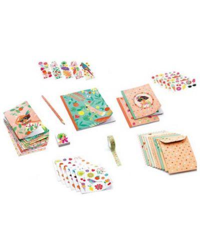 Set creativ Djeco - Marie, pentru felicitari, stickere si caiete - 3