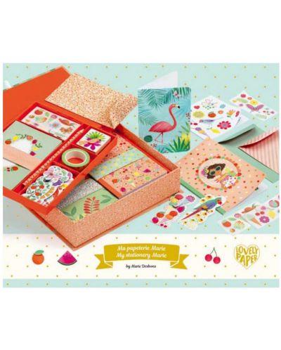 Set creativ Djeco - Marie, pentru felicitari, stickere si caiete - 2