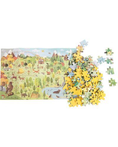 Puzzle pentru copii Moulin Roty - Padurea, 96 piese - 1