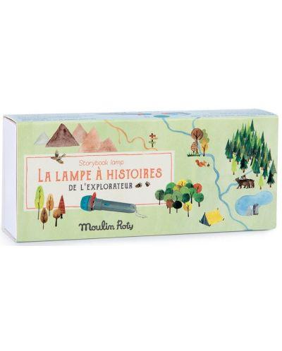 Jucarie pentru copii Moulin Roty - Lanterna de poveste cu carti - 4