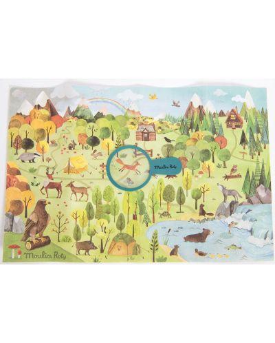 Puzzle pentru copii Moulin Roty - Padurea, 96 piese - 2