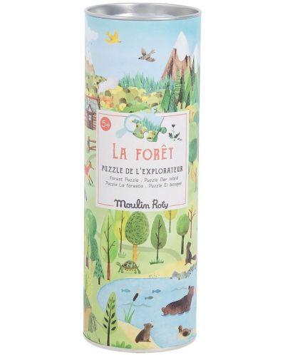Puzzle pentru copii Moulin Roty - Padurea, 96 piese - 3