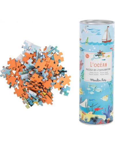 Puzzle pentru copii Moulin Roty - Ocean, 96 piese - 2
