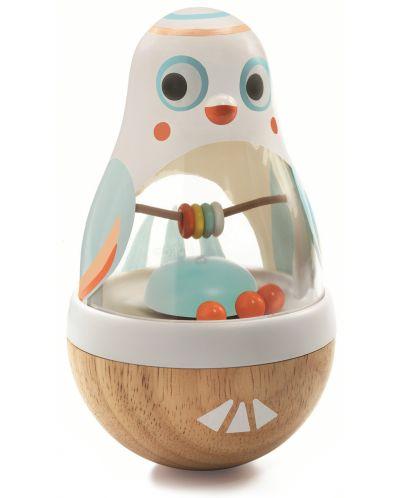 Zornaitoare din lemn pentru copii Djeco - Hopa-mitica Baby Poli - 1