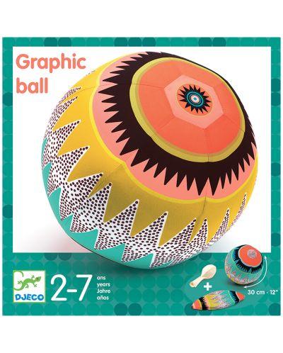 Minge cu balon Djeco - Creioane cu grafit, 30 cm - 4