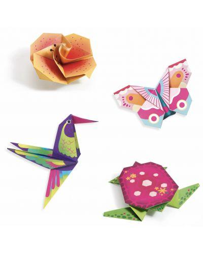 Set pentru origami Djeco - Tropic, cu 24 de hartii neon - 3