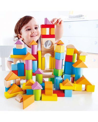 Cuburi din lemn in cutie sortatoare Hape - 101 piese - 4
