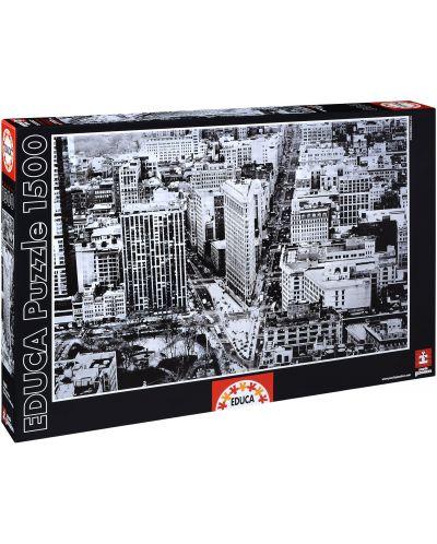 Puzzle Educa de 1500 piese - Rascruce la cladirea Flatiron Building, Manhattan - 1