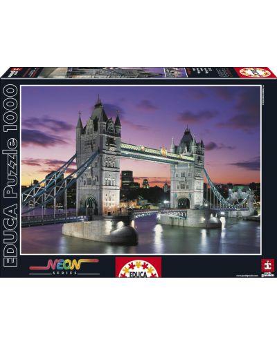 Puzzle neon Educa de 1000 piese - Tower Bridge, Londra - 1