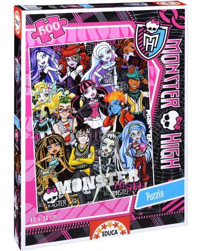 Puzzle Educa de 500 piese - Monster High - 1