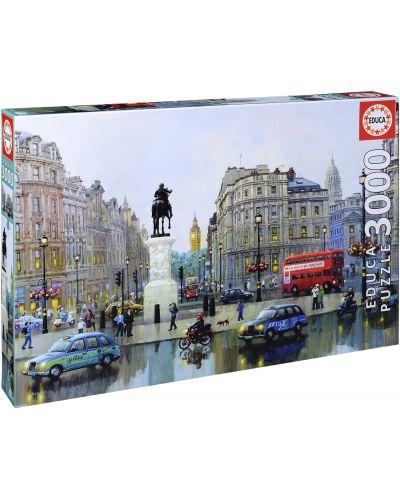 Puzzle Educa de 3000 piese - Charing, Londra, Aleksander Chen - 1