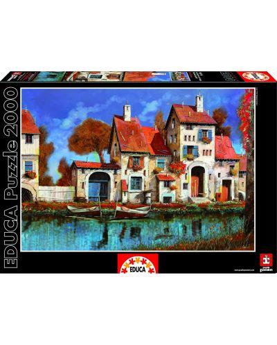 Puzzle Educa de 2000 piese - Ferma de langa lac, Guido Borelli - 1