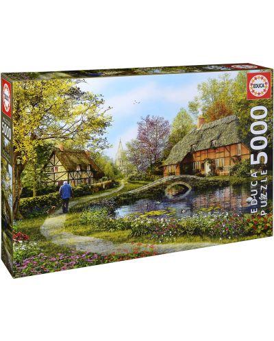 Puzzle Educa de 5000 piese - Cabane poloneze, Dominic Davison - 1