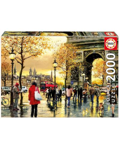 Puzzle Educa de 2000 piese - Arcul de Triumf, Paris - 1