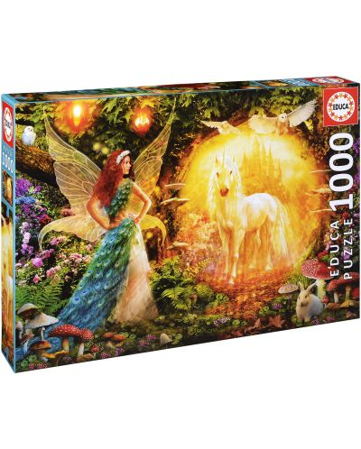 Puzzle Educa de 1000 piese - Padurea magica - 1