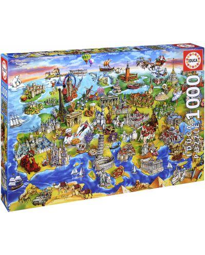 Puzzle Educa de 1000 piese - Lumea europeana - 1