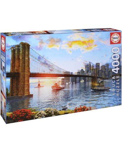 Puzzle Educa de 4000 piese - Podul Brooklyn - 1
