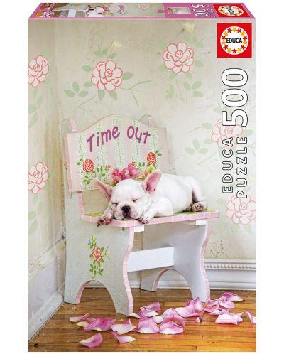 Puzzle Educa de 500 piese - Timpul pentru un pui de somn, Lisa Jane - 1