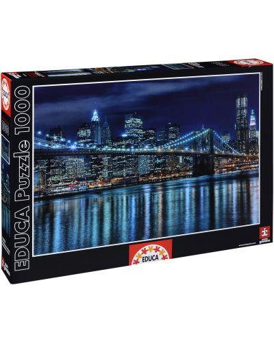 Puzzle Educa de 1000 piese - Manhattan noaptea - 1