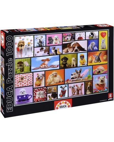 Puzzle Educa de 1000 piese - Momente impartasite - 1