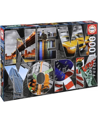 Puzzle Educa de 1000 piese - Colaj New York - 1