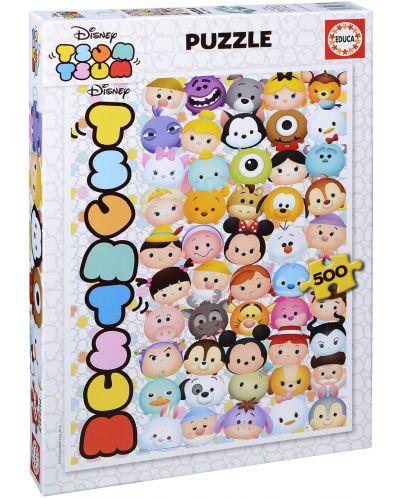 Puzzle Educa de 500 piese - Disney Tsum Tsum - 1