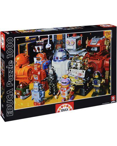 Puzzle Educa de 1000 piese - Robotei - 1