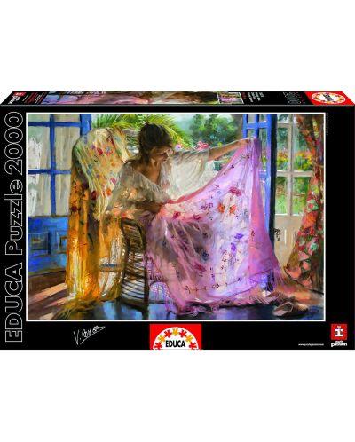 Puzzle Educa de 2000 piese - Esarfa roz, Vincente Romero - 1