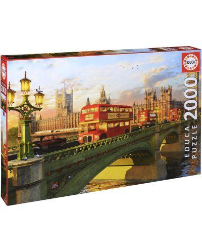 Puzzle Educa de 2000 piese - Podul Westminster, Londra - 1