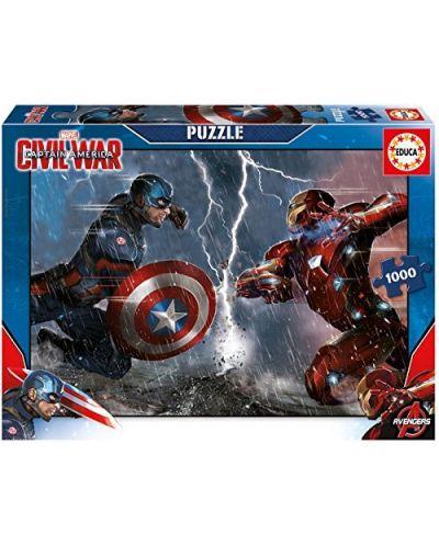 Puzzle Educa de 1000 piese - Capitan America impotriva lui Iron Man - 1