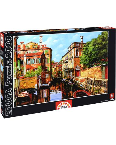 Puzzle Educa de 2000 piese - Lumina in Venetia, Guido Borelli - 1