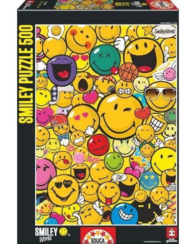 Puzzle Educa de 500 piese - Lumea zambetelor - 1