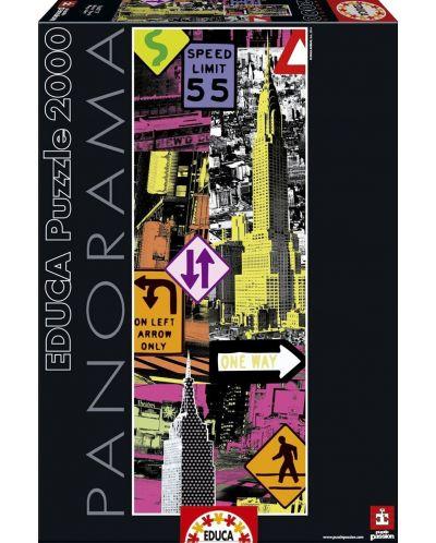 Puzzle panoramic Educa de 2000 piese - New York, Pop art - 1