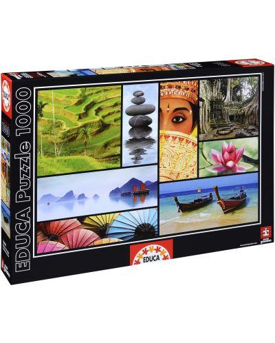Puzzle Educa de 1000 piese - Culorile Asiei - 1