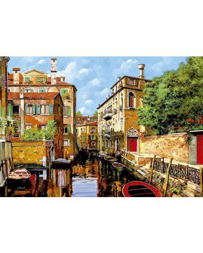 Puzzle Educa de 2000 piese - Lumina in Venetia, Guido Borelli - 2