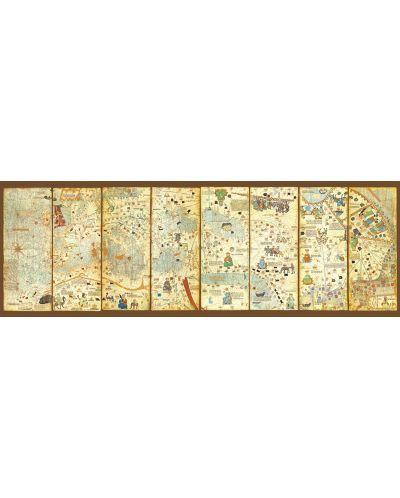 Puzzle panoramic Educa de 3000 piese - Harta medievala, Abraham Cresques - 2