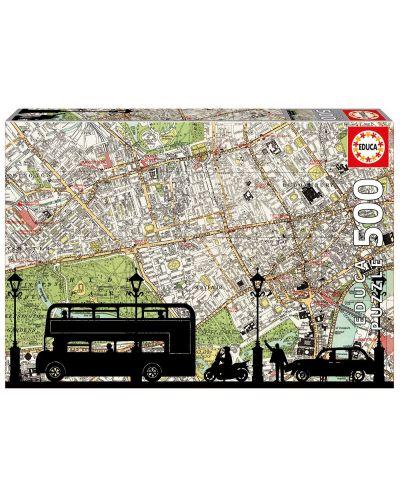 Puzzle Educa de 500 piese - Harta orasului - 1