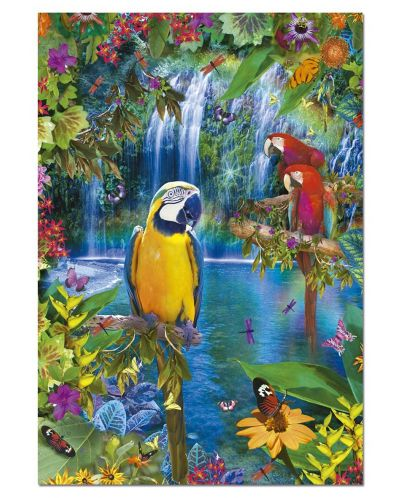 Puzzle Educa de 500 piese - Pasari tropicale - 2
