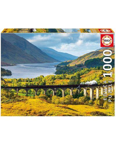 Puzzle Educa de 1000 piese - Viaductul Glenfinnan Scotia, - 1