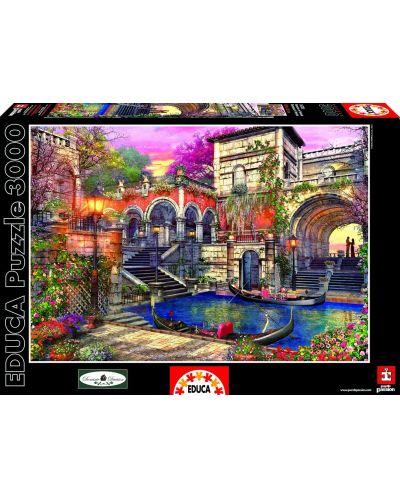 Puzzle Educa de 3000 piese - Romantica in Venetia, Dominic Davison - 1