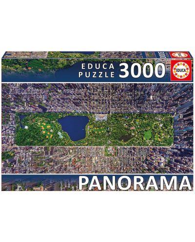 Puzzle panoramic Educa de 3000 piese - Central Park, New York - 1