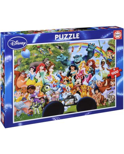 Puzzle Educa de 1000 piese - Lumea minunata Disney - 1