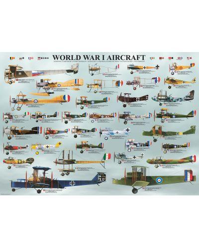 Puzzle Eurographics de 1000 piese –Avioane militare din Primul razboi mondial - 2