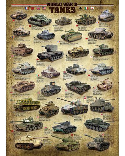 Puzzle Eurographics de 1000 piese – Tancuri din timpul celui de-al doilea razboi mondial  - 2